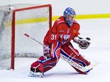 Eishockeytormann Stockfoto