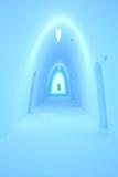 Eishotelkorridor stockbilder