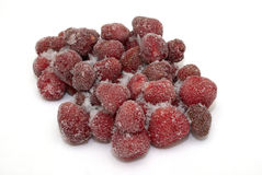 Eisige Erdbeere Lizenzfreies Stockbild