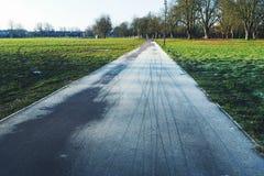 Eisige Fahrradbahnen Stockfotografie