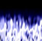 Eisige Flammen über Schwarzem Stockfotos