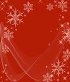 Eisige kalte Schneeflocken Stockfoto