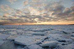 Eisige Landschaft Stockbild