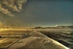 Eisige Landschaft Stockfoto