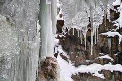 Eisige Landschaft in der Schlucht Lizenzfreies Stockfoto