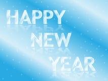 Eisige neues Jahr-Grußkarte stock abbildung