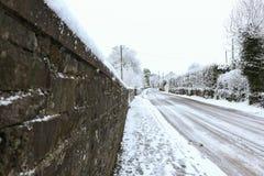 Eisige Straße Stockbilder