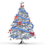 Eisiger Baum der weißen Weihnacht Stockbilder