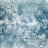 Eisiger blauer Hintergrund Lizenzfreies Stockfoto