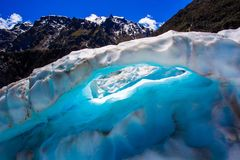 Eisiger Bogen Stockbild