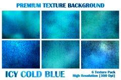 Eisiger eiskalter blauer erstklassiger Beschaffenheits-Satz unter Wasser-Schmutz verzerren Rusty Abstract Pattern Background Wall stock abbildung