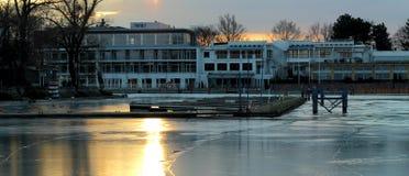 Eisiger Hafen stockbilder