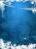 Eisiger Hintergrund des schönen Winters Stockfotos