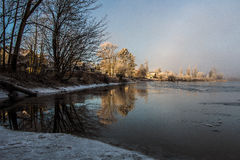 Eisiger Morgen Stockfotos