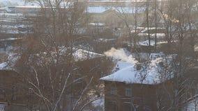 Eisiger Morgen des Winters stock video footage