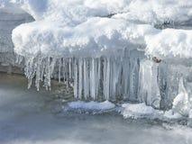 Eisiger Nebenfluss in Tirol Lizenzfreie Stockfotografie