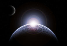 Eisiger Planet vektor abbildung