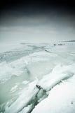 Eisiger See Stockfoto