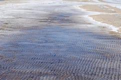 Eisiger Seeuferhintergrund Stockfotografie