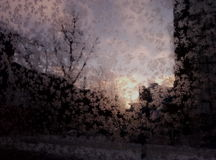 Eisiger Sonnenaufgang Stockbilder