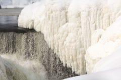 Eisiger Wasserfall Lizenzfreie Stockfotografie