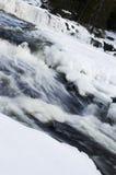 Eisiger Wasserfall Stockfoto