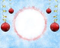 Eisiger Weihnachtshintergrund mit leerem Raum Stockfoto