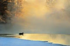Eisiger Wintermorgen Lizenzfreies Stockbild