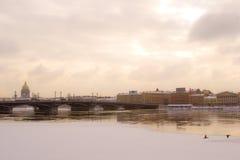 Eisiger Wintertag in St Petersburg Stockfoto