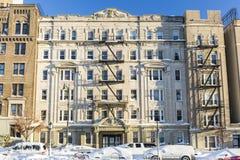 Eisiges Brooklyn-Wohngebäude Lizenzfreie Stockfotos