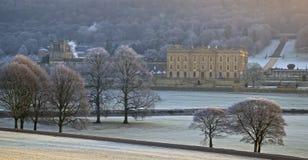 Eisiges Chatsworth Stockfoto