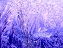 Eisiges eisiges aufwändiges Muster des dünnen Eises auf Lizenzfreie Stockbilder