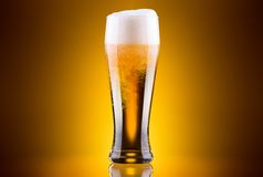 Eisiges Glas helles Bier Lizenzfreie Stockbilder