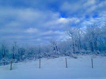 Eisiges mornin stockbild