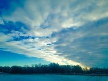 Eisiges mornin Stockfotografie