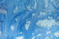 Eisiges Muster auf dem Fenster Schöner natürlicher Hintergrund Abbildung kann als Hintergrund benutzt werden Nahaufnahme Lizenzfreie Stockfotografie