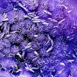 Eisiges natürliches Muster auf Glas Lizenzfreie Stockfotografie