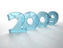 Eisiges neues Jahr vektor abbildung