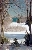 Eisiges Wintermärchenland Stockbilder