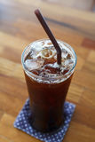 Eiskaffee americano Stockfotografie