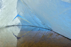 Eiskaleidoskop Der abstrakte Hintergrund der Eisstruktur Lizenzfreies Stockfoto