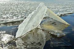 Eiskaleidoskop Der abstrakte Hintergrund der Eisstruktur Stockbild