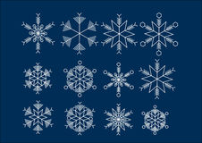 Eiskristall crystal snow background Royalty Free Stock Photography