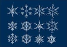 Eiskristall krystaliczny śnieżny tło Fotografia Royalty Free