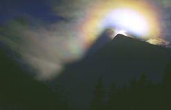 Eiskristall-Regenbogen Stockbild