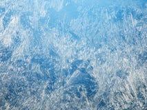 Eiskristalle auf dem Fenster Lizenzfreies Stockfoto