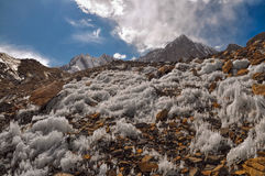 Eiskristalle auf Tadschikistan Stockfoto