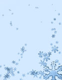 Eiskristallhintergrund Stockbild