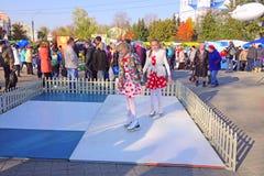 Eiskunstlauf auf künstlichem Rasen Lizenzfreie Stockfotografie