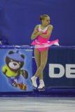 Eiskunstlaufsprung Stockfotografie